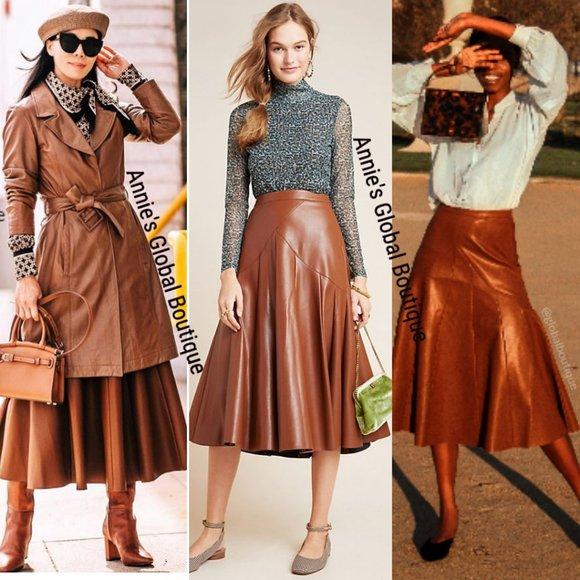 Anthropologie Dresses & Skirts - RARE NWT ANTHROPOLOGIE Mariska Faux Leather Skirt